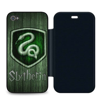 Harry Potter Slytherin Wood Flip iPhone 4 | 4S Case