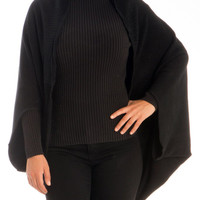KNITTED SLEEVED SHAWL