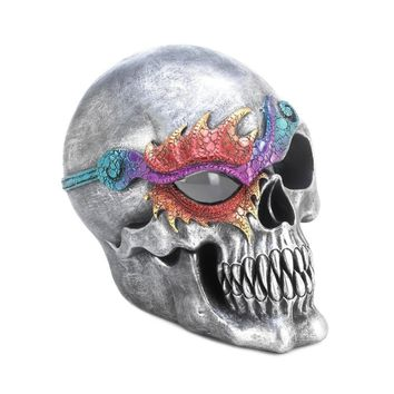 Fantasy Skull Figurine With Led Light