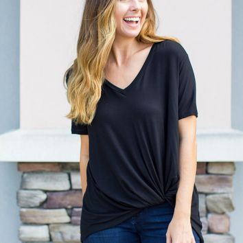 So Knotty V-Neck - Black