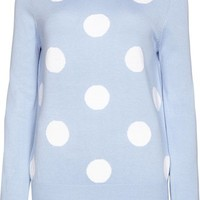 SS14 Polka Dotty Sweater - Light Blue/White - Sugarhill Boutique