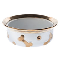 Top Paw® Ceramic Bone Dog Bowl | Food & Water Bowls | PetSmart
