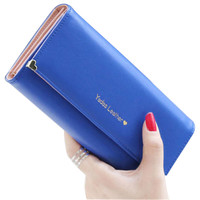 Women's Long Wallet Button Clutch Purse Long Handbag