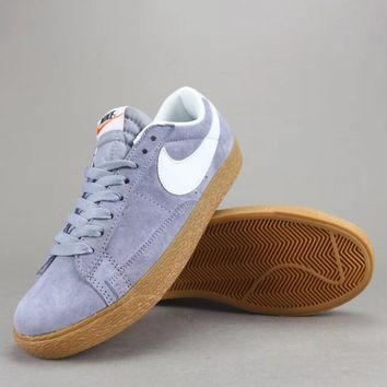 Nike Blazer Low Prm Vntg Women Men Fashion Low-Top Old Skool Shoes-9