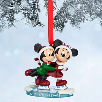 Mickey and Minnie Mouse Sketchbook Ornament - ''My 1st Christmas''