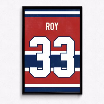 Patrick Roy Number 33 Jersey