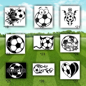 Shop Soccer Car Decal On Wanelo - Soccer custom vinyl decals for car windows