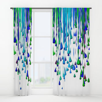 Crayons Window Curtains by Jessica Ivy