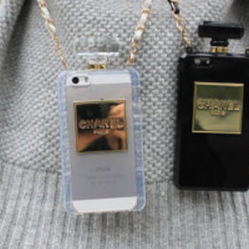Perfume iPhone 5/5s, iPhone 4/4s Samsung Note 2/3 case with detachable leather chain strap
