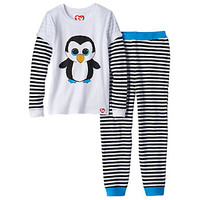Girls 4-10 TY Beanie Boo's Waddles Thermal Mock-Layered Pajama Set