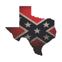 Texas State Rebel Confederate Flag Vinyl Die Cut Decal Sticker