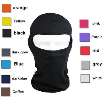 DCCKF4S Lycra Balaclava Face Mask Ultra Thin Motorcycle Bike Winter Mask Cycling Ski Neck Gaiter Outdoor Dustproof Windproof Mask