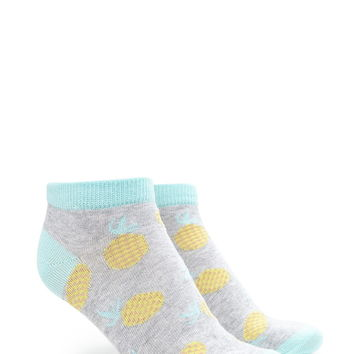 Pineapple Graphic Ankle Socks
