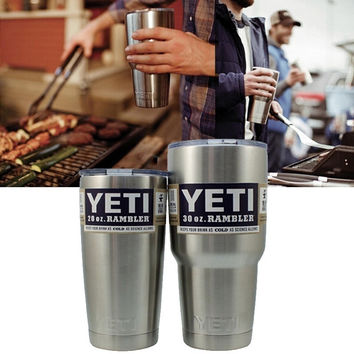 New 2016 Double wall stainless steel 18/8 cold/hot tumbler with straw,30oz yeti rambler cup,insulated ice cooler vacuum mug