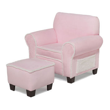 Komfy Kings, Inc 44232 Club Chair and Ottoman Pink