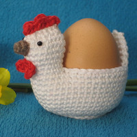 Crochet --- PATTERN --- Chicken Egg Holder Cosy PDF Easter Spring Amigurumi