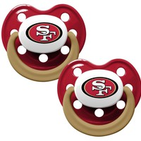 San Francisco 49ers Pacifier With Color Handle 2 Pack