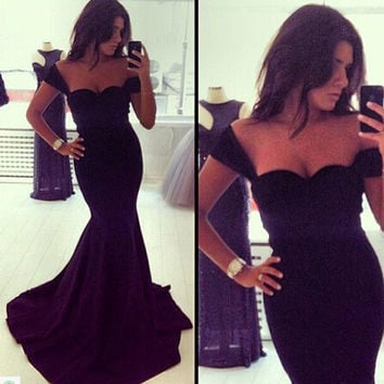 Black Ball Gown Prom Dress [6339002113]