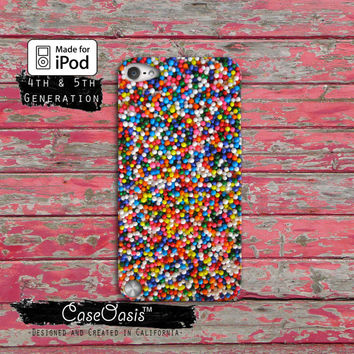 Sprinkles Rainbow Cake Cute Cool Tumblr Case iPod Touch 4th Generation or iPod Touch 5th Generation Rubber or Plastic Case