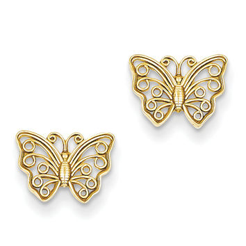 14K Butterfly Post Earrings K4418