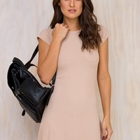 Zoe Ribbed T-Shirt Dress