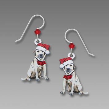 Sienna Sky Earrings - White Lab with Santa Hat