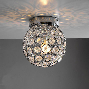 Modern lustre LED Ceiling Lamp Lustre Crsytal Round Ball Ceiling Light bedroom Light Fixture Home Lighting Kitchen Luminaire