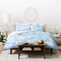 Lisa Argyropoulos Snow Flurries in Blue Duvet Cover