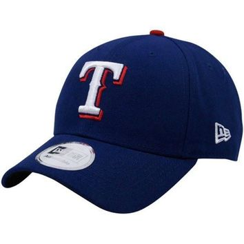 Mens Texas Rangers New Era MLB Home Red Button The League 9FORTY Adjustable Cap
