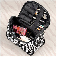 Zebra Travel Toiletry Wash Pouch Cosmetic Case Makeup Storage Bag Organizer