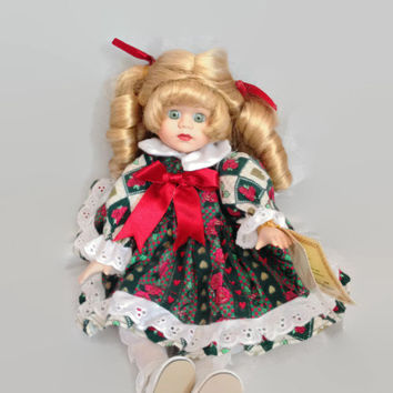 Musical Vintage Bisque Porcelain Doll, Soft Expressions by Barbara Collins