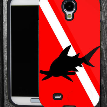 Hammerhead Shark Diving Flag-IPhone 5 case,IPhone 4,4S,Samsung Galaxy S2 i9100,Samsung S3 i9300,Samsung S4 i9500-B-2062013-9