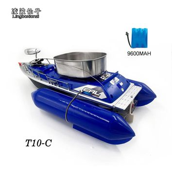 2016 Newest T10-C Remote Control  8 Hours/9600MAH Bait  Fishing Boat 280M Remote Fish Finder Boat  Wireless Fishing Lure Boat