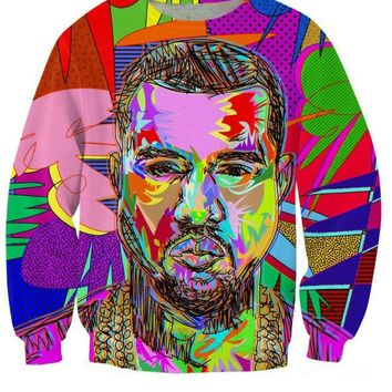 2018 New fashion winter Harajuku sweatshirt casual men women 3D print cartoon character hoodies tie dye crewneck pullover coat