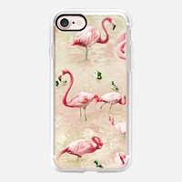 Flamingos Vintage Pink iPhone 7 Case by Lisa Argyropoulos | Casetify