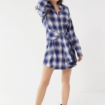 Pistola Joan Flannel Tie-Waist Dress | Urban Outfitters