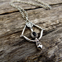 Black Arrow Necklace, arrow necklace, arrow choker, bronze arrow pendant, arrow jewelry, black necklace, fantasy jewelry, archer necklace