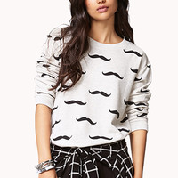 Playful Mustache Pullover