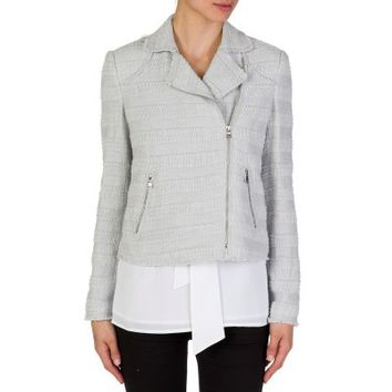 Rebecca Taylor Pale Blue Textured Tweed Jacket