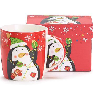 Penguins Christmas Holiday Coffee Mug