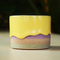 Handmade Petite Drippy Bowl: Rainbow