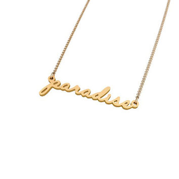 Lana Del Rey Paradise Tattoo Necklace Nameplate v2