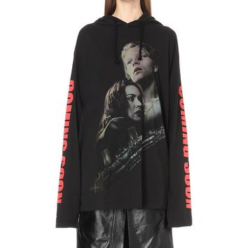 VETEMENTS - Titanic-print cotton-jersey hoody | Selfridges.com