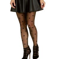 Sale-black On The Dot Tights