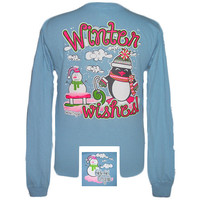 Girlie Girl Originals Winter Wishes Christmas Long Sleeve Bright T Shirt