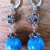 Sleeping Beauty Turquoise Earrings - Wedding Jewelry | Handmade Jewelry | Bridal Jewelry - Vivian
