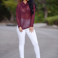 Cold Front Sweater - Burgundy