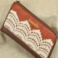 Elegant Retro Lace With Crochet Leather Wallet from styleonline
