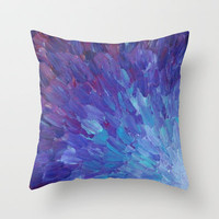 SCALES OF A DIFFERENT COLOR - Abstract Acrylic Painting Eggplant Sea Scales Ocean Waves Colorful Throw Pillow by EbiEmporium | Society6