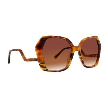 Trina Turk - Sovalye 57mm Horn Sunglasses / Brown Gradient Lenses